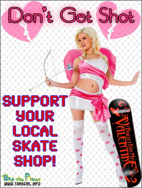 Valentine support your local skate shop sylss