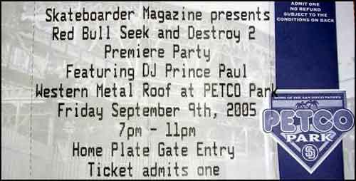 Red Bull's Seek & Destroy II ticket