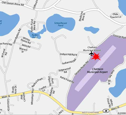 Map of Chatham, MA