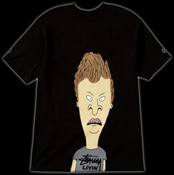 Beavis and Butthead apparel from Stussy