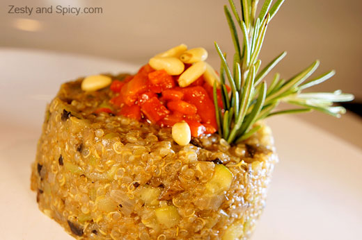 quinoa risotto by Ariel Rebel for zesty & spicy