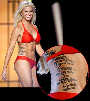 Miss America contestant's tattoo