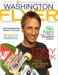 Tony Hawk cover  Washington Flyer airport magazine