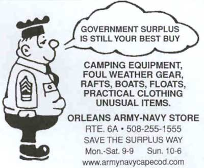 Orleans Army Surplus store ad