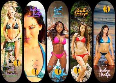 California Girls Skateboard decks