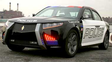 cop car of the future skateboarding