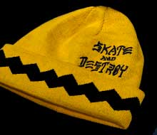 Thrasher Gnarly Brown Peanunts beanie hat