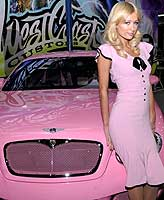 Paris Hilton pink bentley car